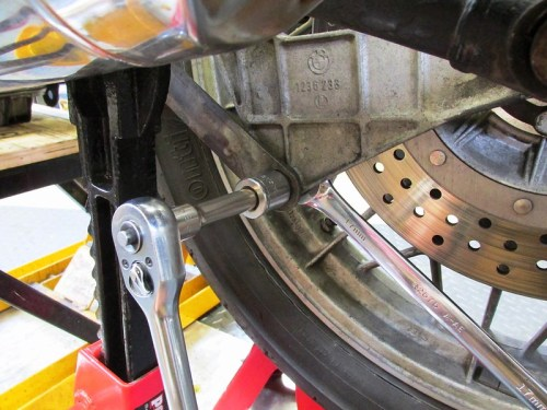Remove Torque Arm Lower Mount