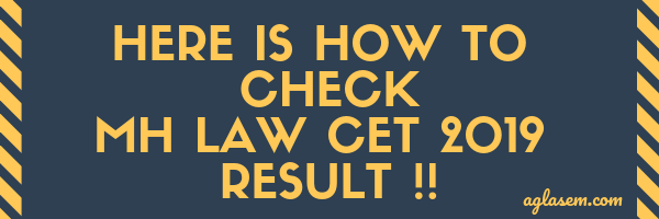 MH Law CET 2019 Result