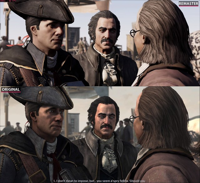 Assassin's Creed 3 Remaster - Character Degradement