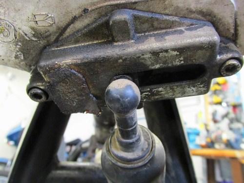 Steering Damper Adjuster Mechanism with Damper Attached
