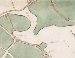Kaartdetail onbedijkte Starnmeer en Kamerhop