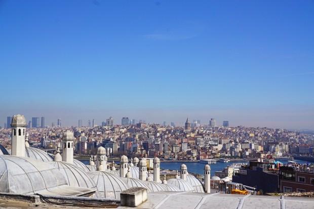 Istanbul panorama, seen from Süleymaniye Mosque