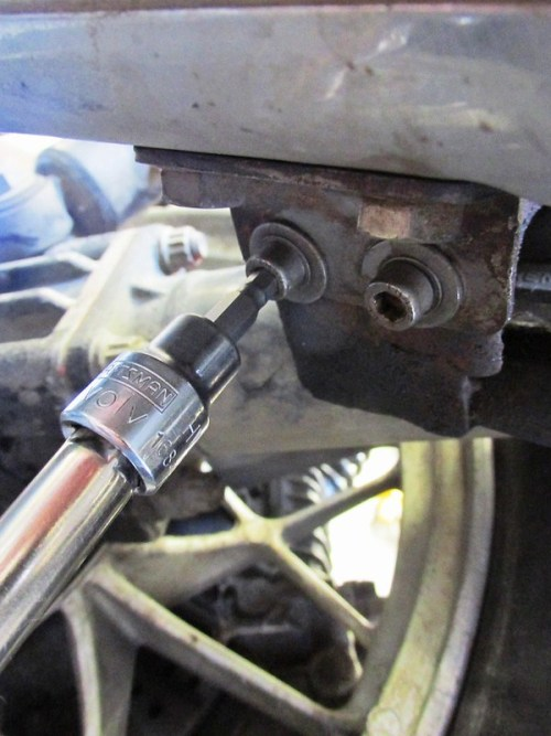 Remove Muffler Bracket Bolts From Underneath The Muffler