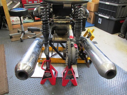Rear Wheel Removed & Brake Torque Arm Removed