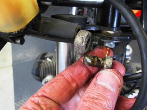 Front Master Cylinder Brake Line Detail