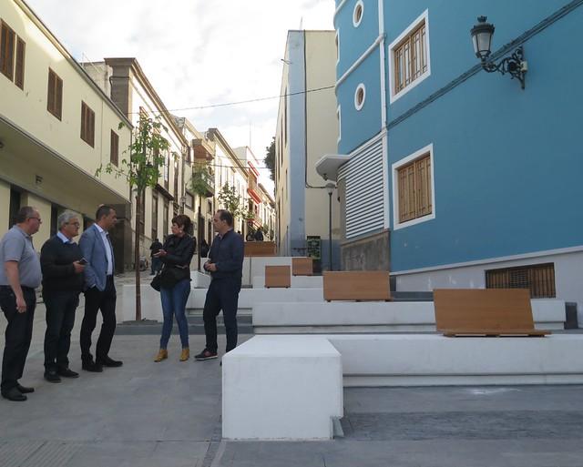 Culmina la primera actuación del Plan Director de Zonas Comerciales Abiertas de Guía con la mejora del acceso al casco histórico de la Ciudad