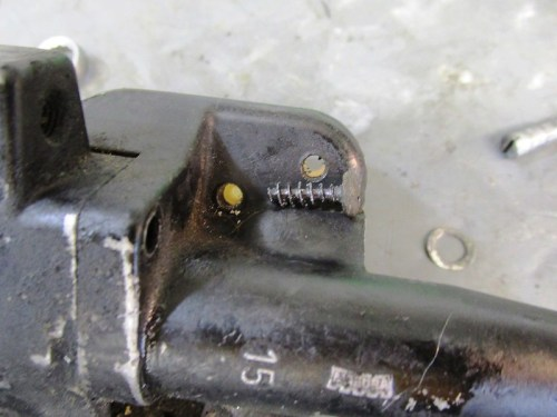Fluid Reservoir Bottom Screw Detail