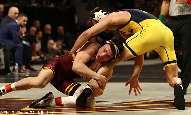 Cons. Semi - Mitch McKee (Minnesota) 20-5 won by decision over Kanen Storr (Michigan) 24-6 (Dec 12-6) - 190310cmk0038