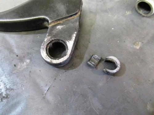 Left Handlebar Lever Pivot Pin Bushing is Broken
