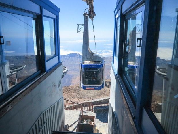 Cabina del teleférico del Teide
