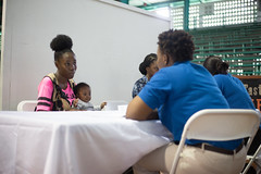 Youths at the job fair.