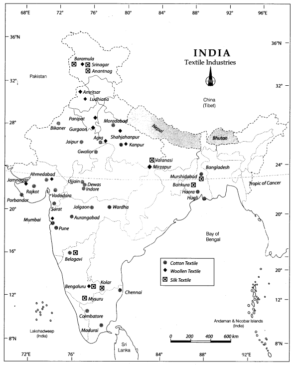 industrial map of india pdf Class 10 Geography Map Work Chapter 6 Manufacturing Industries industrial map of india pdf
