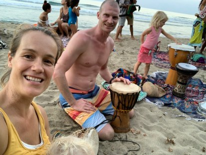 Drum session at the beach