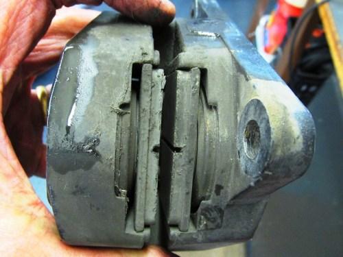 Rear Brake Pad Detail