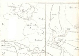 oude kaart voor droogmakerij