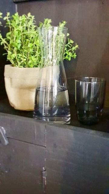 Waterfles en plantje