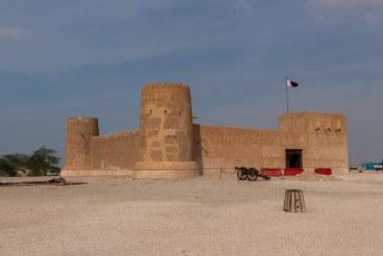 Dit is het fort van Al Zubarah, van de grond af opnieuw opgebouwd als je het mij vraagt.