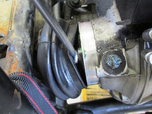 Remove Drive Shaft Transmission Coupling Bolt