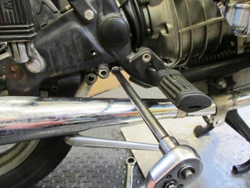 Remove Rear Brake Master Cylinder Bracket Front Bolt