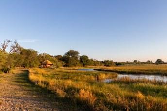....van het uitzicht over de Kwando rivier.