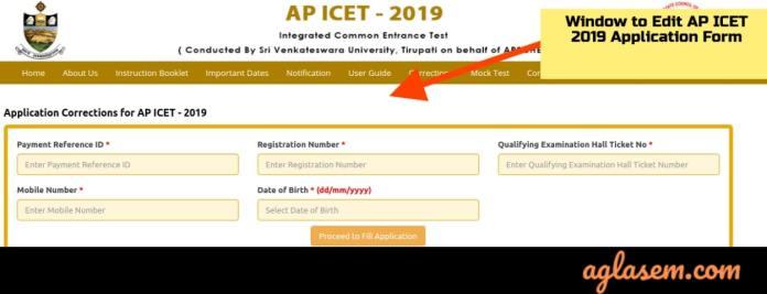 AP ICET 2019 Application Form Correction