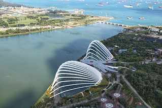 Cloud Forest and Flower dome, Gardens By The Bay, Singapore