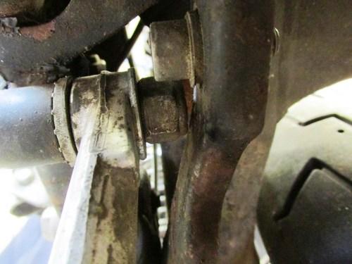 Rear Brake Pedal Pivot Bolt Detail