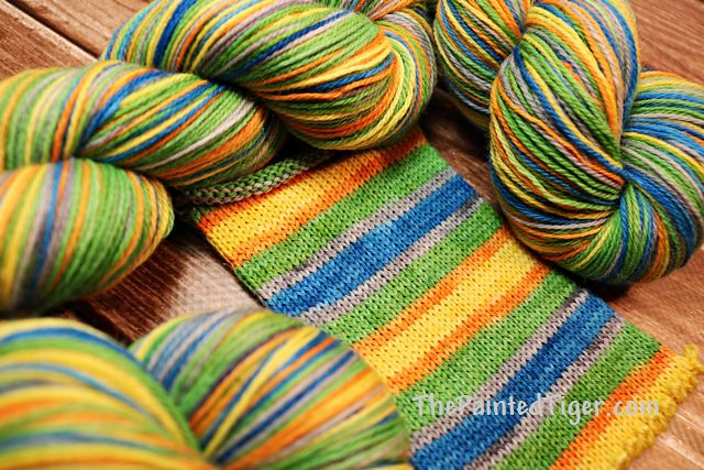Tropical Delivery Safari Sock Yarn of the Month - March Tiger Club
