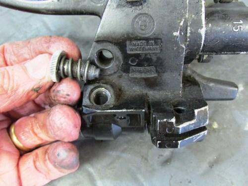 Right Handlebar Control Throttle Friction Screw Detail