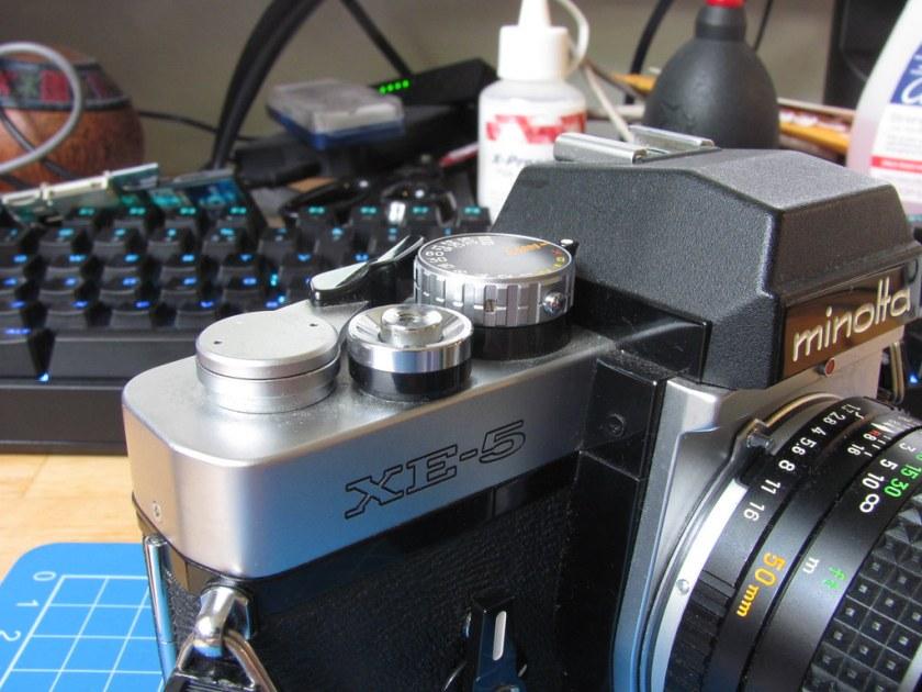 Minolta XE-5 winder return fix
