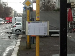 A bus timetable