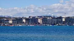 Alps behind Geneva