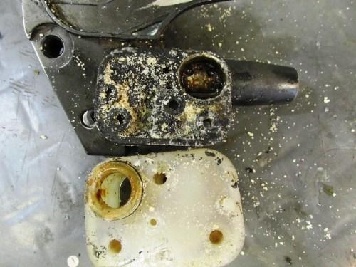 Front Master Cylinder Fluid Reservoir Has Crud Under It