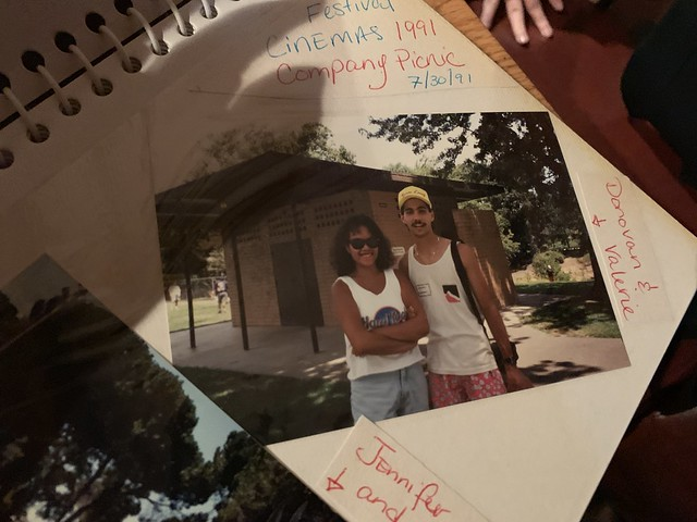 a picture of a photo in a photo album