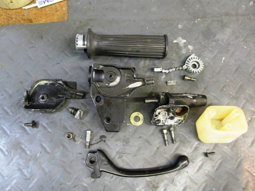 Right Handlebar Control Parts Detail