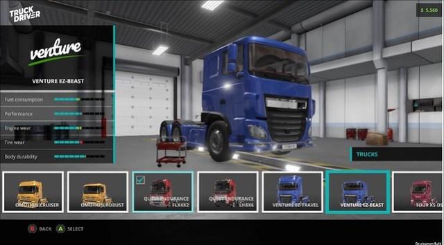 Водій вантажівки - налаштування
