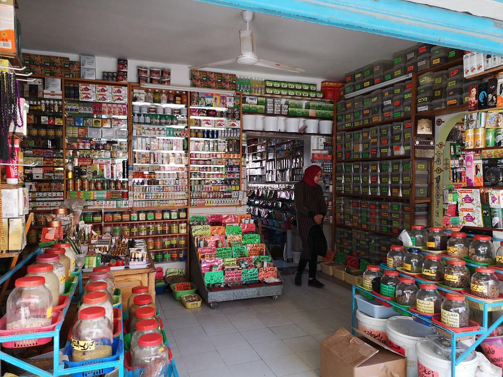 bazar puestos mercado de las especias de Jara en Gabes Tunez 02