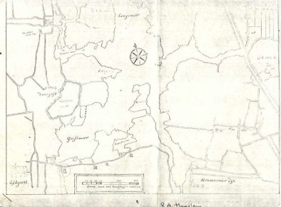 oude kaart na droogmakerij