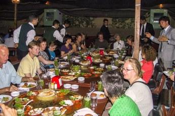Het kennismakingsdiner, om iedereen in de groep en de Jordaanse keuken te leren kennen.