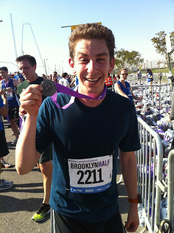 Finished @NYRR Brooklyn Half Marathon in 1:34:43 !!