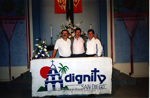 P103.144m.r.t Neil Manfredi and two others at Dignity San Diego alter