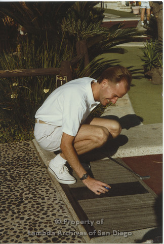AIDS Foundation of San Diego: Miniature Golf - 1990, Recreational Activity.