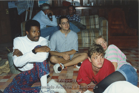 P001.228m.r.t Retreat 1991: group of men seated on the floor