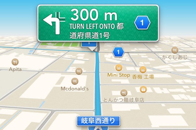 Apple Maps Navigation 3D View