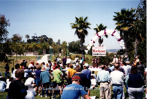 P151.018m.r.t Crowd gathered around a stage