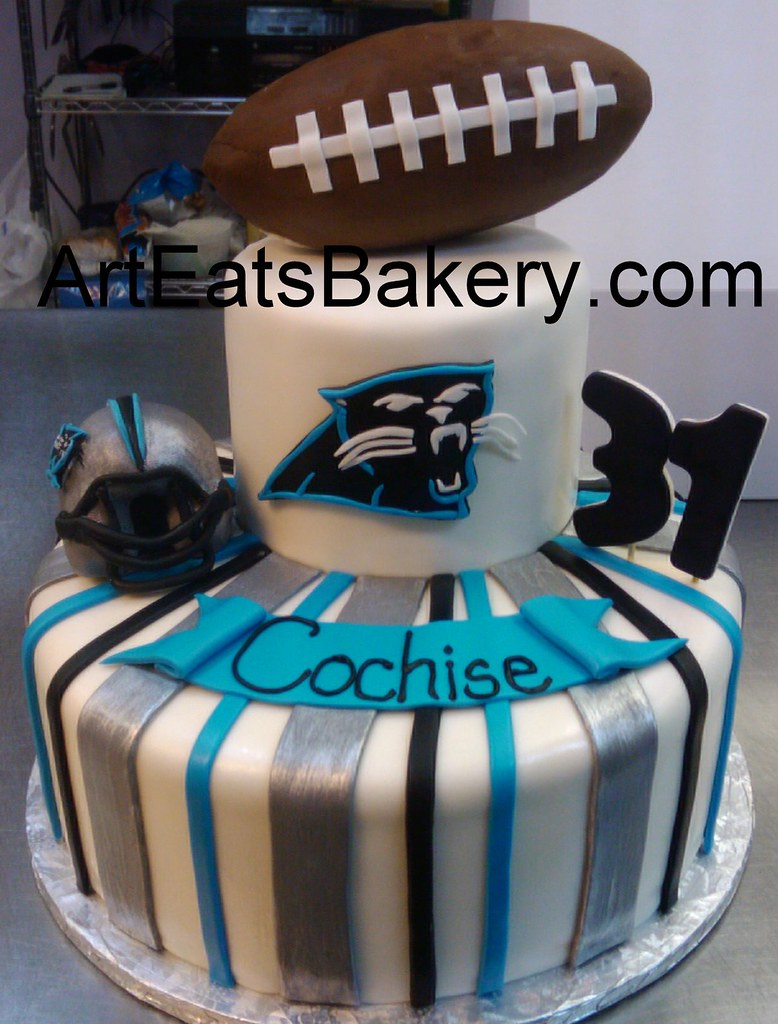 Two Tier Custom Carolina Panthers Football Logo And Helm Flickr