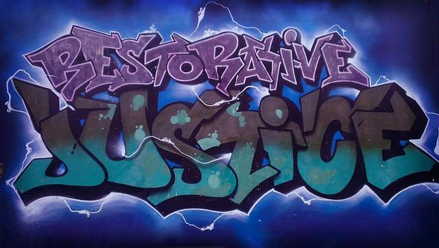 RJ graffiti mural at Alternatives