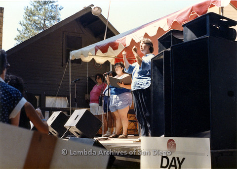 P024.225m.r.t Fat Lip Reader's Theater performing at West Coast Women's Music and Comedy Festival 1986 Day stage