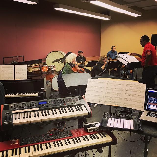 In Rehearsal for Carman Moore's Skymusic Ensemble