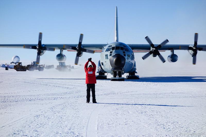 Landing An LC-130 Hercules
